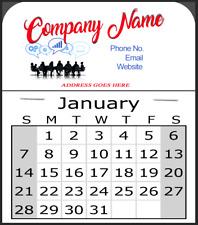 36 Custom Stick Calendars Sticky Months Company Birthday Calendar Business Cards