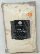 """Cambria Malta Rod Pocket/Back Tab 84"""" Window Curtain Panel in Parchment"""