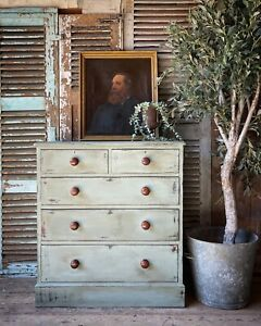 Handpainted Victorian Chest Of Drawers