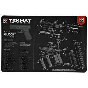 "Pistol Mat for Glock Gen5 11""x17"" & Small Microfiber TekTowel for Gun Cleaning"