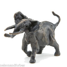Solid Bronze Elephant Sculpture Bull Elephant Maquette by Jonathan Sanders