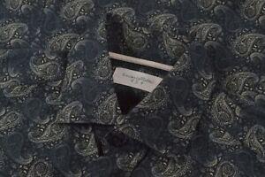 NWOT Tintoria Mattei 954 Size Medium Men's Dress Shirt Blue Paisley Brand New
