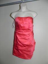 Davids Bridal Dress Plus Size 26 Strapless Guava F14212 Bridesmaid Prom  NWT