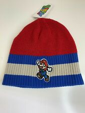 Nintendo SUPER MARIO BEANIE - Men Women Boy Video Game Hat Red Blue Skull Cap