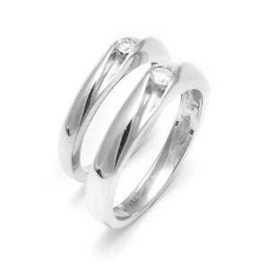 0.19 Ct Diamond 950 Platinum Irresistible Couples Wedding Band Set Sizes N M P O