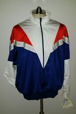 90s Nike RARE NOS Men Full Zip Jacket Warm up Track Colorblock XL Navy Red White