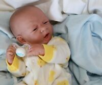 "AWW! BABY BOY ""LOVABLE""! Preemie Life Like Reborn Pacifier Doll + Extras"
