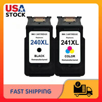 2 PK PG-240XL CL-241XL Ink Cartridge For Canon Pixma MG3620 MX472 MX452 MG3220