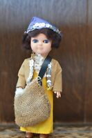 Fabulous VINTAGE Historical Costume Doll of a Cotton Picker - 18cm Tall