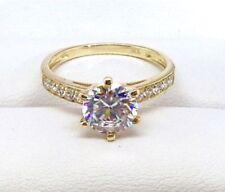 Lab-Created/Cultured Diamond Yellow Gold Fine Jewellery