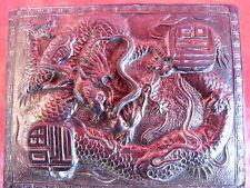 schöne,alte Deckeldose__Metall__verziert : Drachen...__China_!