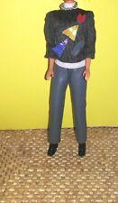 Vtg Barbie 80's 90's Outfit Pleather Pants Denim look Barbie clone