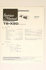 PIONEER TS-X20 Car Stereo Speaker Service-Manual/Schaltplan! o66