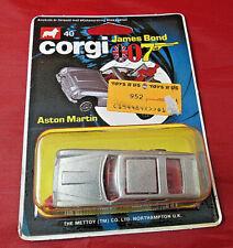 Vintage 1984 Corgi Toys James Bond 007 Aston Martin Ejecting Man -- New -- MOC!!