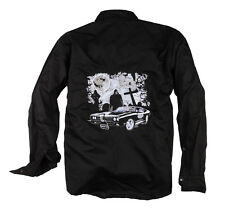 Death Car   Westernhemd Stick Biker Rockabilly Metal Workerhemd Work Shirt 1/1