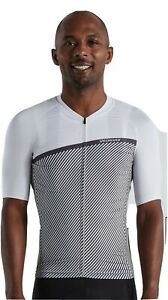 Specialized Mens SL Stripe Cycling Jersey Small S White Grey (64021-2212)