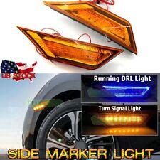 Amber LED Side Marker Light Turn Signal DRL Driving Lamp for 2016-UP Honda Civic