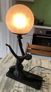 STUNNING  JULIANA ART DECO STYLE LADY LAMP. Used Fully Working
