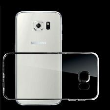 Case For Samsung Galaxy S6 Silicone TPU Clear Gel Cover + 2pcs Screen Protectors