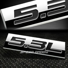 METAL EMBLEM CAR BUMPER TRUNK FENDER DECAL LOGO BADGE CHROME BLACK 5.3L 5.3 L