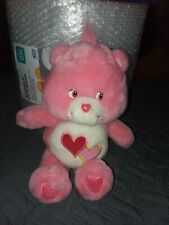 Care Bears Love A Lot Bear Animated Talking Pink Plush Toy Retired. Must have!