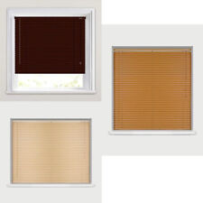 New Easy Fit Windows Venetian Blinds Wood Grain Effect All Sizes For Home Office