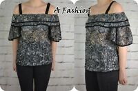 NEXT NEW LADIES BLACK LACE TOP UK SIZE 10 TO 22 AVAILABLE 997