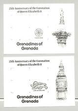 Grenada Grenadines #270-272 Queen Elizabeth 6v Imperf Proofs of M/S Background