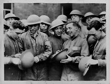 1934 Saar Royal Army Corp Holding Steel Helmets Press Photo