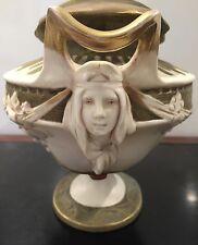 EARLY 20TH CENTURY ART NOUVEAU ROYAL DUX VASE WITH TWIN FACES