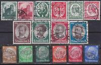 Nazi 3rd Reich 16 Rarer Issues 1934 Cancelled!!