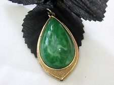 Vintage Sarah Coventry Green Stone Pendant