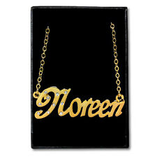 Gold Plated Name Necklace - NOREEN - Gift Ideas For Her - Jewellery Birthday