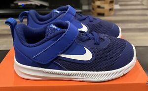 Nike Downshifter 9(TDV) Size 9 AR4137-400 Deep Blue-New-$44.00