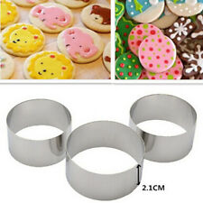 3Pcs Stainless Steel Round Circle Cookie Fondant Cake Paste Mold Cutter Tool Set