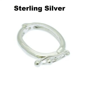 Pearl Shortener Necklace Enhancer Clasp Sterling Silver Jewellery Connector