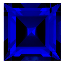 Real Russian Synthetic Lab Blue Sapphire AAAA Square Loose Gem (2mm - 8mm)