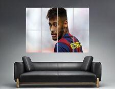 Neymar Jr BARCELONA-BARCELONA FC FUßBALL Wand Kunst Plakat groß format A0
