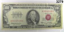 1966 $100 RED SEAL UNITED STATES NOTE VF+ #3279