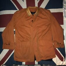 Vintage MCKENZIE TRIBE Leather Collar LINED Wool Overcoat Jacket L Cotton Wax PU