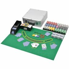 Vidaxl Jeu de Poker/blackjack Mixte avec 600 Jetons Laser Aluminium