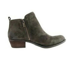 Women's Ladies Booties Low Heels Ankle Boots Round Toe Zip Up Casual Shoes 6-10