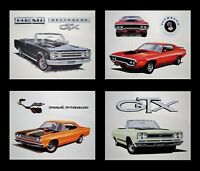 OLD PLYMOUTH AUTO POSTERS 1968 1969 1970 1971 ROAD RUNNER BELVEDERE GTX 426 HEMI