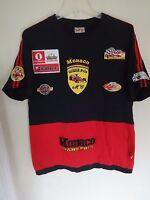 Vintage Monaco Grand Prix Formula 1 Racing Sewn Logos Jersey Shirt Size Men Larg