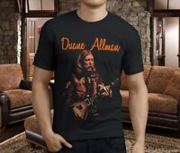 NEW DUANE ALLMAN BLUES GUITARIST FENDER LEGEND Men's Black T-Shirt Size S-3XL