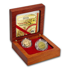 2005 South Africa 2-Coin Gold Oom Paul Proof Set (w/Box & COA) - SKU #49223