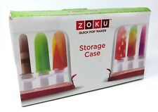 new ZOKU Quick Pop Maker - STORAGE CASE popsicle gift accessory summer DIY