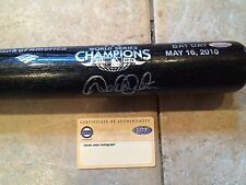 5/16/10 BAT DAY- DEREK JETER SIGNED WORLD SERIES COMMEMORATIVE BAT -STEINER LOGO