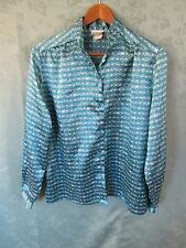 Vintage 70's Size 14 Solos by Koret Shiny Career Top Nehru Collar