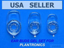 3 NEW Clear Earbuds Eartips Gels (S/M/L) for PLANTRONICS M70 M90 M155 M165